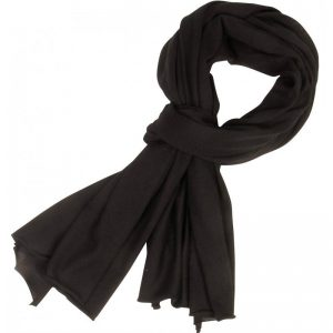 Life is Cashmere - large black scarf