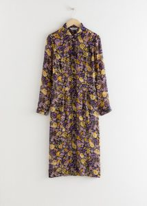 & Other Stories - floral utility midi shirt dress
