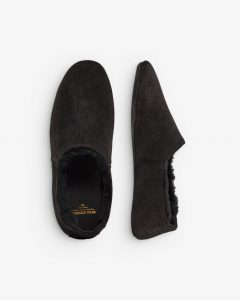 Royal RepubliQ - black suede slippers