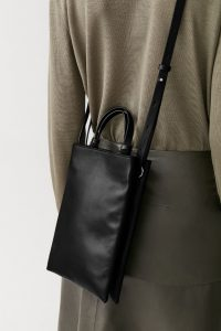 COS - black mini leather tote