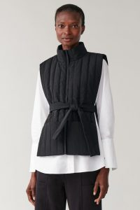 COS - black zip-up puffer vest