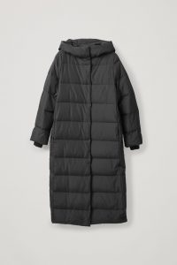 COS - hooded long puffer coat
