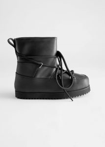 & Other Stories - chunky leather snow boots