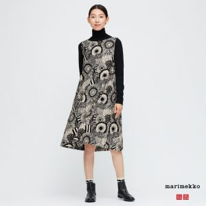 Uniqlo x Marimekko - printed A-line sleeveless dress