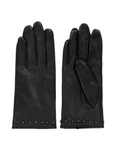 mbyM - black leather gloves with studs