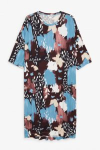 Monki - jersey dress with abstract brush print
