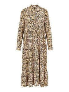 Pieces - golden floral maxi dress