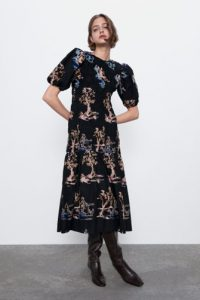 Zara - embroidered stretch dress