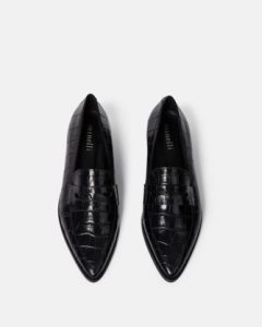 Minelli - black pointed Lyssiah loafers