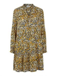 Pieces - yellow floral dress