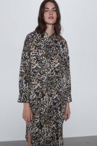 Zara - shirt dress with animal print
