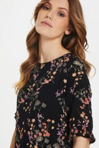Bonaparte - black floral summer dress