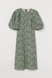 H&M - floral dress with balloon sleeves