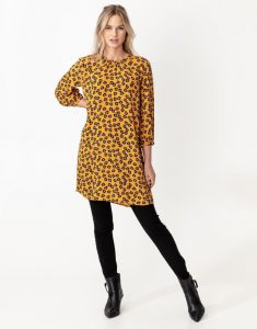 Indiska - yellow dress with floral print