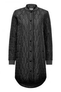 Kaffe - black quilted coat