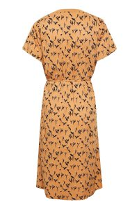Saint Tropez - orange summer dress with floral print