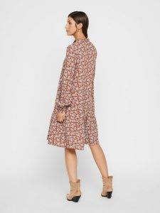 Y.A.S. - printed dress with frilled skirt