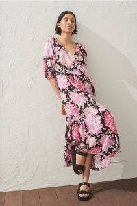 H&M - floral dress with puff sleeves