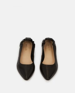 Minelli - black pointed ballerina