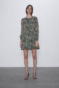 Zara - floral printed mini dress