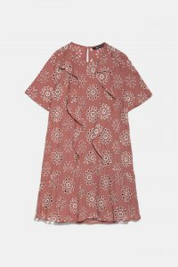 Zara - perforated dress with embroidery