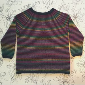 DROPS Design - striped Frosty Morning raglan sweater