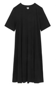 Arket - black A-line t-shirt dress