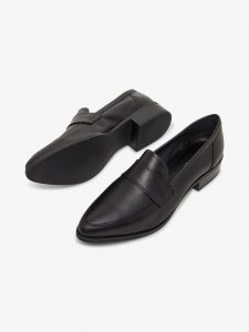 Bianco - black leather loafers