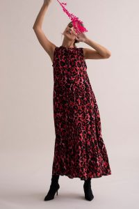Kaffe - red leo dress