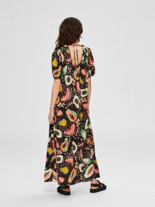 Selected Femme - maxi dress with tutti frutti print
