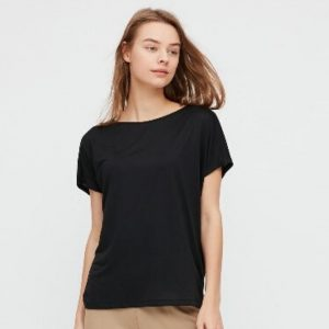 Uniqlo - drape crew neck short sleeved t-shirt