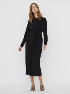 Vero Moda - black basic shirt dress