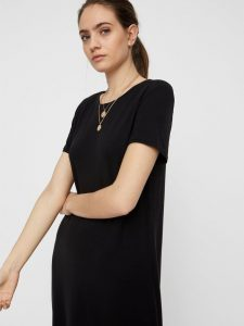Vero Moda - black casual t-shirt dress