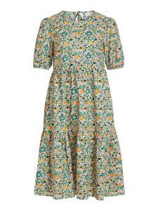 Vila - flora cotton dress