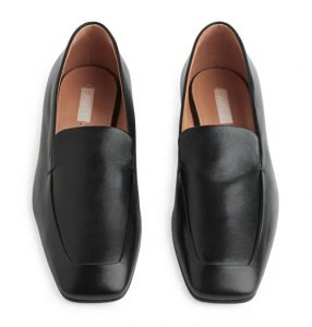 Arket - square toe leather loafers