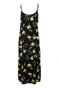 B.Young - black floral strap dress
