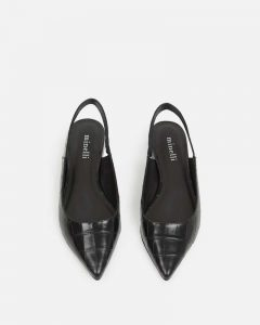Minelli - black Mylah pointed sling back