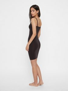 Pieces - black slip dress