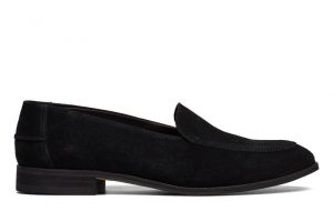 Shoe the Bear - black Juno suede loafers