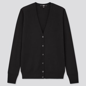 Uniqlo - extra fine merino wool v-neck cardigan