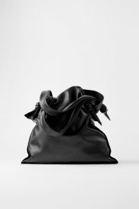 Zara - leather tote with knotted detail