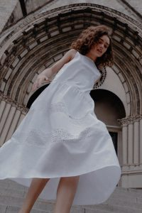 Zara - white dress with cutwork embroidery