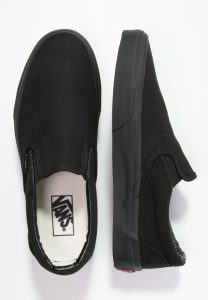 Vans - all black classic slip-on sneakers