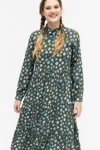 Monki - green dress with blue dots