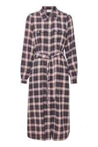 Kaffe - black check dress