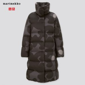 Uniqlo x Marimekko - gray ultra light down cocoon coat