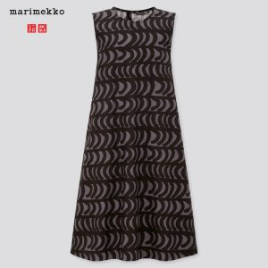 Uniqlo x Marimekko - grey A-line sleveless dress